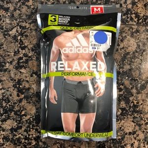 NWT Adidas Relaxed Performance 3 Boxer Briefs